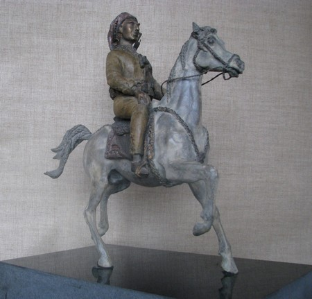 Barzani on horseback I