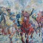 Kurdish nomad girls galloping