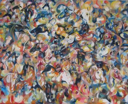 Flock of horses 100x80 cm
