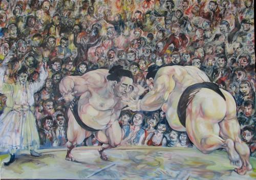 Sumowrestlers 202x145 cm